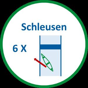 6 Schleusen